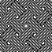Seamless vector weaving pattern, linear background with crossed lines, textile knitted repeat tiling wallpaper, perfect simplistic minimal design.