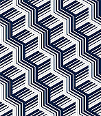 3D stair minimal lined seamless pattern, vector abstract repeat background wallpaper.
