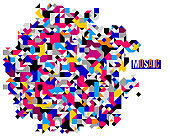 Abstract bright colorful mosaic vector background, artistic design element trendy modern style, texture beautiful digital art.