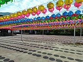 VH544 many lanterns in korean Buddhist temple