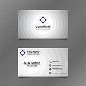 Black and White Circle Business Card