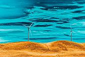 Wind generators in the endless fields.