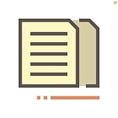 Coppy document vector icon design, 48X48 pixel perfect and editable stroke.