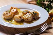 Seared Portuguese Garlic Scallops