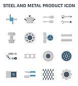 steel metal icon