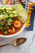 Spicy Mexican Shrimp Soup