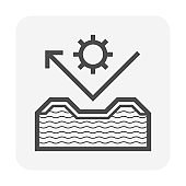 Insulated roof sheet vector icon design.