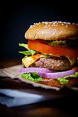 Rustic Moody Cheeseburger
