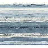 Blue layered horizontal stripe painted fabric texture