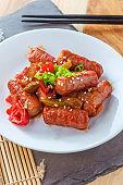 Korean Sausage Yachae Bokkeum