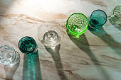 Various Drinking Glass Cups