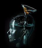 Alcoholic Martini Brain Addiction