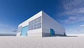 3d hangar exterior