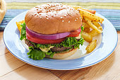 Cheeseburger Sesame Seed Bun