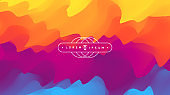 Abstract background with dynamic effect. Creative design with vibrant gradients. 3D vector Illustration.