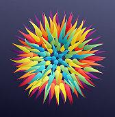 Floral art. Element for design. Vector illustration for advertising, marketing, presentation.