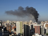 fire desaster in city of  Buenos Aires, Argentina