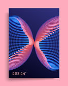 3d abstract form. Decorative element for banner, card, poster or web design. Vector art illustration with dynamic effect.