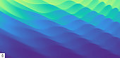 3D wavy background with ripple effect. Vector illustration for advertising, marketing and presentation.