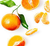 Clementine citrus fruit composition and creative layout