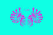 Decorative element for banner, card, poster or web design. Vector art illustration with dynamic effect.