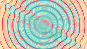 3D wavy background with ripple effect. Vector illustration with particle.