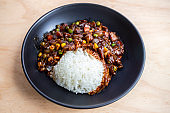 Korean food black bean sauce with rice