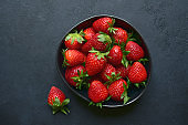 Fresh ripe organic strawberry