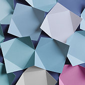 Paper folded in geometric shapes. Abstract background