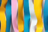 Wavy colorful ribbons, abstract background