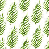 Leaves seamless pattern. Green leaf