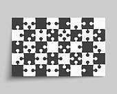 Background made pieces puzzle jigsaw vector banner