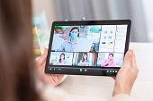 telework video meeting at home