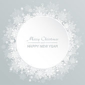 Vector banner for Christmas, New Year, snowflakes