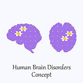 Human Brain Made of Puzzle Pattern with few Corrupted