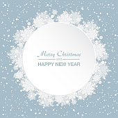 Vector card for Christmas, New Year, snowflakes