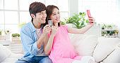 couple video chat with smartphone