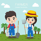 farmers boy and girl