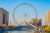 View of the Tianjin Eye ferris wheel