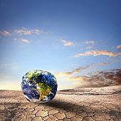 Deformed World on dry and cracked landscape