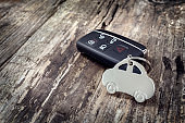 Car shape key ring and key less entry remote