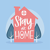Stay at home poster