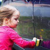 Girl Washes Car