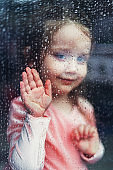 Girl With Hand on Window