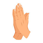 Female hand sign. Human finger gesture sign. Sign language. Isolated vector illustration