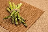 Green asparagus source of dietary fiber. Diet food