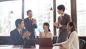asian business people meeting in office