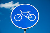 Road sign: Bicycle lane