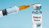 Coronavirus vaccine with syringe