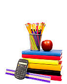New School Supplies Isolated